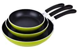 Cook N Home 8 to 10 to 12-Inch Frying Pan/Saute Pan 3-Piece Set